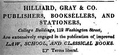 1832 Hilliard Gray BostonDirectory.png