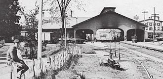 Ayer (MBTA station) - The 1848-built Union Station in September 1895, shortly before it was demolished
