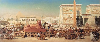 Book of Exodus - Children of Israel in Egypt (1867 painting by Edward Poynter)
