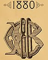 1880 logo art in 1detail, from- Biographical sketches of the members of the class of 1880, Bowdoin college (IA biographicalsket00bowd) (page 5 crop).jpg