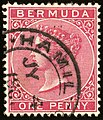 1886ca 1d carmine-rose Bermuda Hamilton SG24.jpg