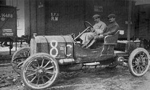 Junior F.J.T.A. - 1907 Targa Florio - Guido de Martino in a Junior 28/40 from Fabbrica Junior Torinese d'Automobili