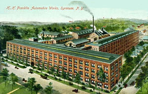 H. H. Franklin Manufacturing Company, a major employer in Syracuse located at South Geddes and Marcellus Streets - Postcard - about 1910