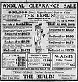 1913 - The Berlin Newspaper Ad1 Allentown PA.jpg