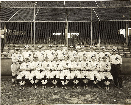 Providence Grays with Babe Ruth (top row, center), 1914 1914 Providence Grays with Babe Ruth.jpg