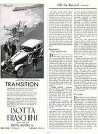 Isotta Fraschini Tipo 8A - Image: 1930 Isotta fraschini Motors Ad