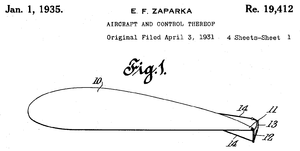 Gurney flap - Image: 1935 Zaparka airfoil control microflap patent