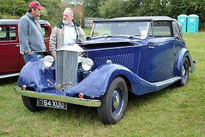 Railton (car) - 1937 Railton Claremont Drophead Coupe at Kensworth, summer 2016. Fitted with Hudson Straight 8