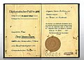 1944 German diplomatic passport issued to Edmund Veesenmayer's wife, Mary, during their stay in Budapest.jpg
