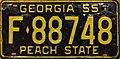 1955 Georgia license plate F-88748.jpg