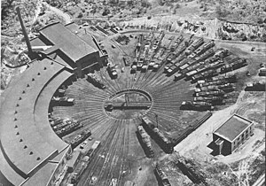 Railway turntable - A turntable for the Central Railroad of New Jersey, 1961