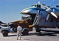 1969-Chiếc xe tải từ Bồng Sơn xuống để lấy thư của họ.Pete Stitt trong xe tải 3 4 tấn. Tôi nghĩ đó là ngày đầu tiên của Pete ở Qui Nhơn. (9677356409).jpg
