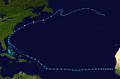 1970 Atlantic tropical storm 4 track.png
