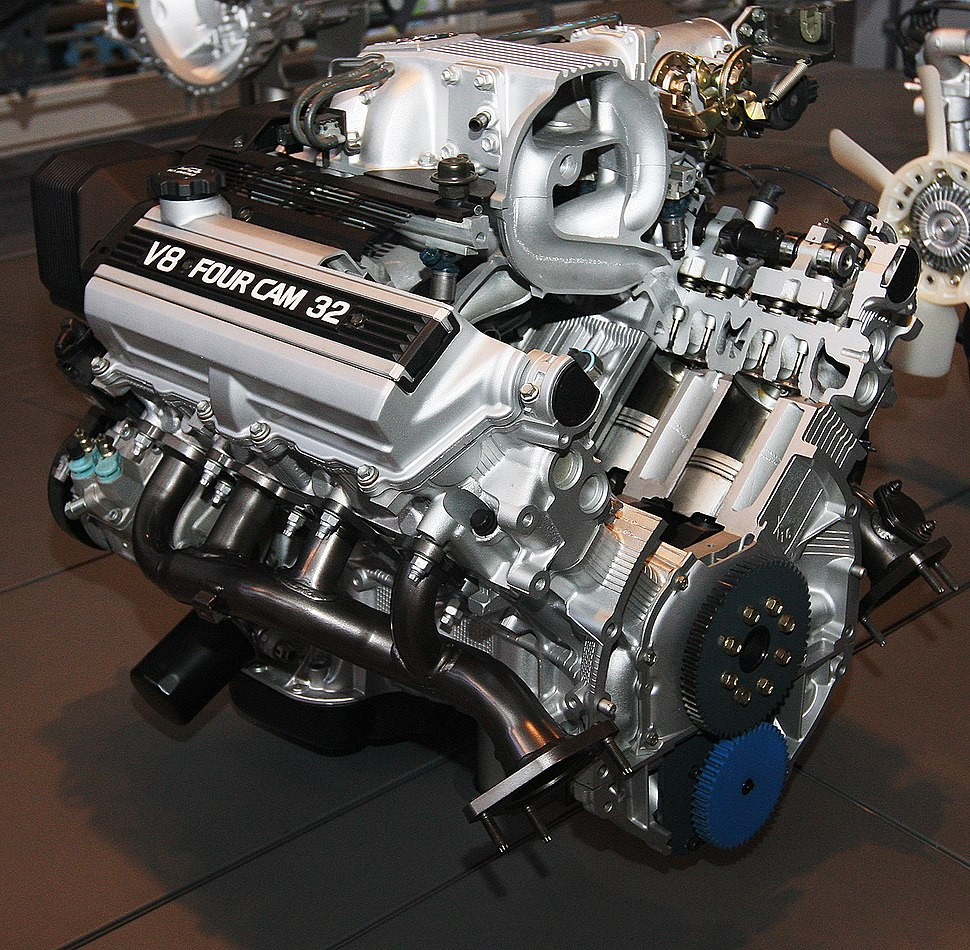 1989 Toyota 1UZ-FE Type engine rear