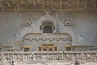 Gavaksha - The last chaitya hall window, Cave 10, Ellora, c. 650