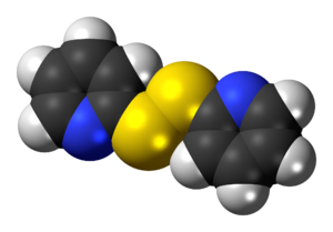 2,2'-Dipyridyldisulfide - Image: 2,2' Dipyridyldisulfide 3D spacefill