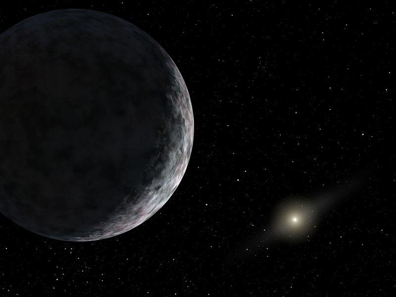 太陽と冥王星
