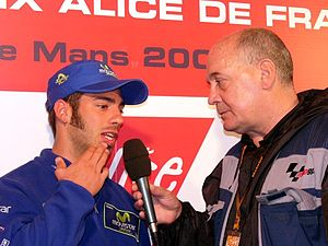 2002 Grand Prix motorcycle racing season - Marco Melandri (left) won the 250cc world championship.