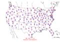 2006-07-09 Max-min Temperature Map NOAA.png