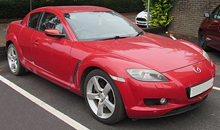 Mazda RX-8 Rotary powered sports car manufactured by Japanese automobile manufacturer Mazda from 2003–2012
