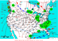 2007-01-18 Surface Weather Map NOAA.png