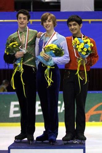 2007–08 ISU Junior Grand Prix - The men's podium at the Final