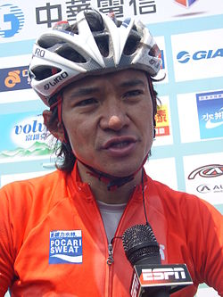 2008TourDeTaiwan Stage1 After Race Media Interview Kam-po Wong.jpg