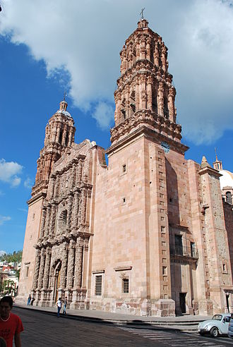 Zacatecas City - The cathedral was built between 1729 and 1753, regarded by many as the last, and greatest, expression of the churrigueresque style.
