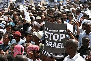 English: Tanzanians in Dar es Salaam protestin...