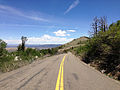 2014-06-22 12 34 35 View north along Nevada State Route 231 (Angel Lake Road) about 0.4 miles north of Angel Lake.JPG