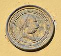 2015-10-24 (10) Pulkau Hauptstrasse011 Plakette Franciscus Iosephus I.D.G. Austriae Imperator.JPG