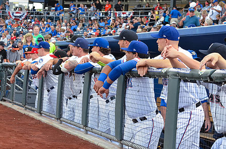 PCL All-Stars at the 2015 Triple-A All-Star Game 2015 AAA All-Star Game dugout.jpg
