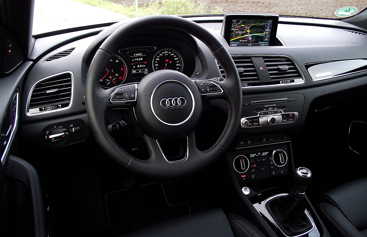 datei 2015 audi q3 2 0 tdi quattro facelift typ 8u interieur cockpit wikipedia. Black Bedroom Furniture Sets. Home Design Ideas