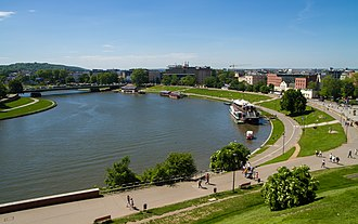 Vistula - Vistula River flowing through Kraków, Poland