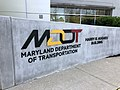 2018-05-11 09 22 18 Sign on the front of the Maryland Department of Transportation Harry R. Hughes Building in Ehrmansville, Anne Arundel County, Maryland.jpg
