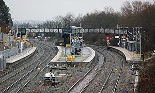 Railway station in Bristol, England