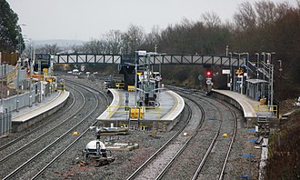 Filton Abbey Wood railway station - View from the south