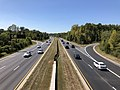 2019-09-15 12 56 46 View south along Maryland State Route 295 (Baltimore-Washington Parkway) from the overpass for Maryland State Route 32 (Patuxent Freeway) in Maryland City, Anne Arundel County, Maryland.jpg