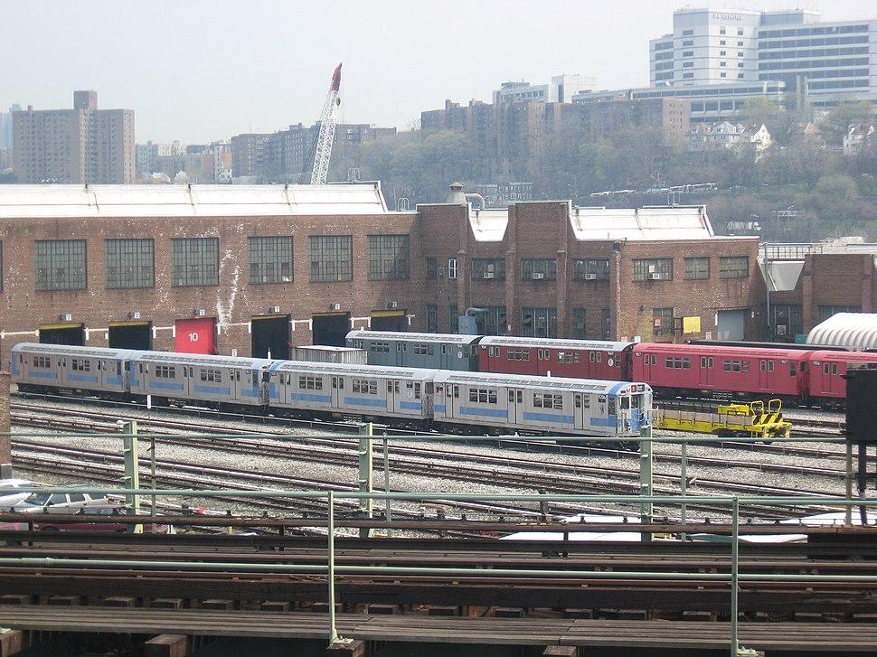 207th Street Yard Train of Many Colors