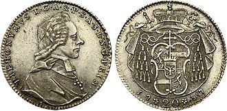 Count Hieronymus von Colloredo - Hieronymus von Colloredo, 1787
