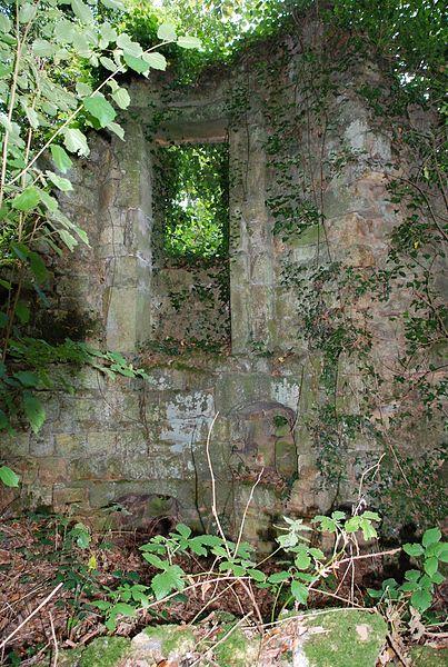 Ouverture intérieur sur une tour en ruine du château (début 16ème) du Grand Perrien, Lanrodec, Côtes d'Armor
