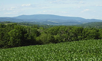 Bedford County, Pennsylvania - Blue Knob Mountain (3,146 ft), from Helixville