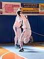 2nd Leonidas Pirgos Fencing Tournament. Flèche and touch for the fencer Vassilis Papadopoulos.jpg