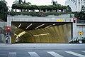 2nd Street Tunnel, Figueroa Street entrance, at dusk.jpg