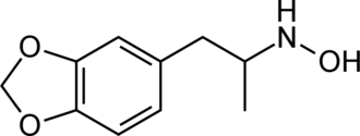 3,4-Methylenedioxy-N-hydroxyamphetamine - Image: 3,4 MDOH