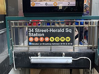 34th Street–Herald Square station New York City Subway station complex in Manhattan