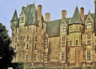 Château de Baugé - Exterior view (2003).