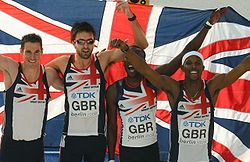 4x400 m Great Britain Berlin 2009.JPG