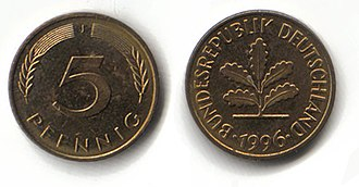 Deutsche Mark - 5 pfennig