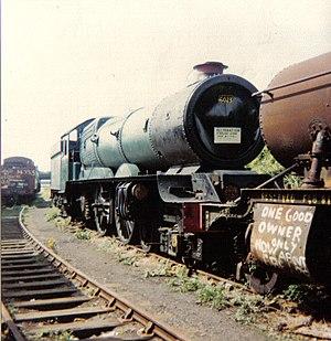 GWR 6000 Class 6023 King Edward II - King Edward II at Woodhams' Scrapyard, in 1982
